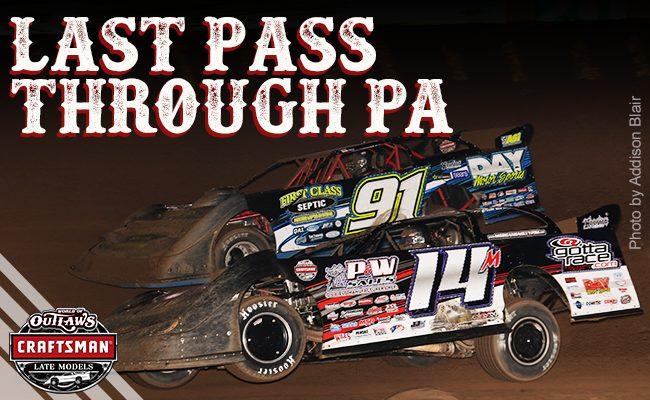 PRE RACE Last Pass Through PA