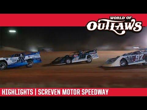 World of Outlaws Morton Buildings Late Models Screven Motor Speedway February 9, 2019 | HIGHLIGHTS