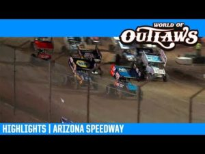 World of Outlaws NOS Energy Drink Sprint Cars Arizona Speedway April 6, 2019   HIGHLIGHTS