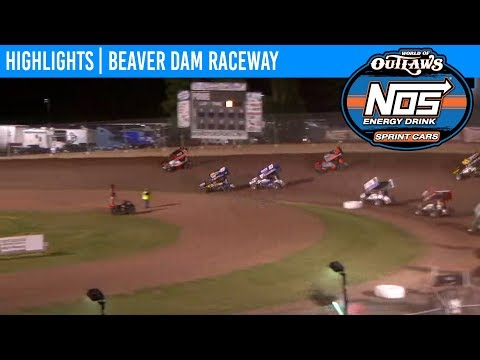 World of Outlaws NOS Energy Drink Sprint Cars Beaver Dam Raceway, June 22, 2019 | HIGHLIGHTS