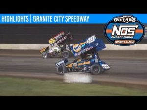 World of Outlaws NOS Energy Drink Sprint Cars Granite City Speedway, June 8, 2019 | HIGHLIGHTS