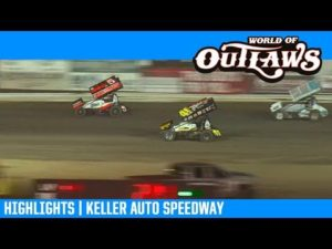 World of Outlaws NOS Energy Drink Sprint Cars Keller Auto Speedway March 29, 2019   HIGHLIGHTS