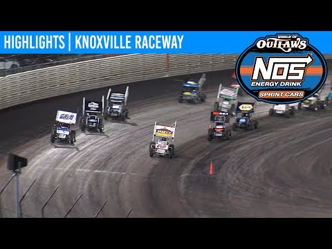 World of Outlaws NOS Energy Drink Sprint Cars Knoxville Raceway, June 14, 2019 | HIGHLIGHTS