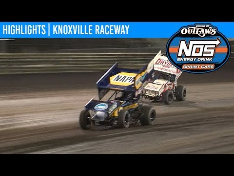 World of Outlaws NOS Energy Drink Sprint Cars Knoxville Raceway, June 15, 2019 | HIGHLIGHTS