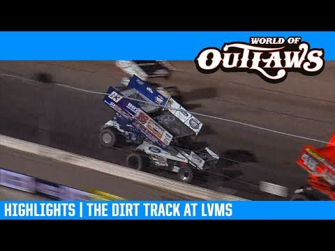 World of Outlaws NOS Energy Drink Sprint Cars the Dirt Track at LVMS February 28, 2019 | HIGHLIGHTS