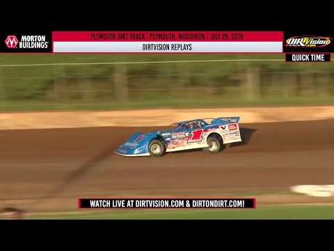 DIRTVISION REPLAYS | Plymouth Dirt Track July 29th, 2019