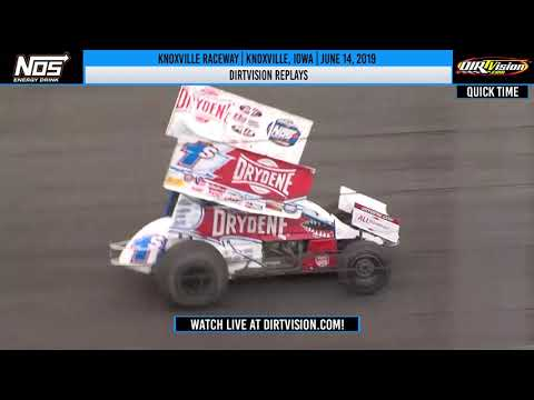 DIRTVISION REPLAYS | World of Outlaws NOS Energy Drink Sprint Cars Knoxville Raceway June 14, 2019