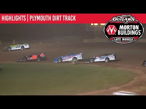 World of Outlaws Morton Buildings Late Models Plymouth Dirt Track July 29th, 2019 | HIGHLIGHTS