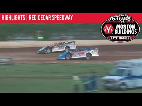 World of Outlaws Morton Buildings Late Models Red Cedar Speedway July 14th, 2019 | HIGHLIGHTS