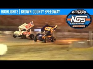 World of Outlaws NOS Energy Drink Sprint Cars Brown County Speedway, July 3, 2019   HIGHLIGHTS