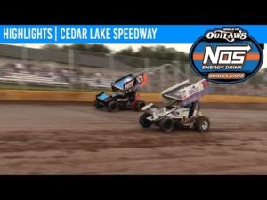 World of Outlaws NOS Energy Drink Sprint Cars Cedar Lake Speedway, July 5th, 2019 | HIGHLIGHTS