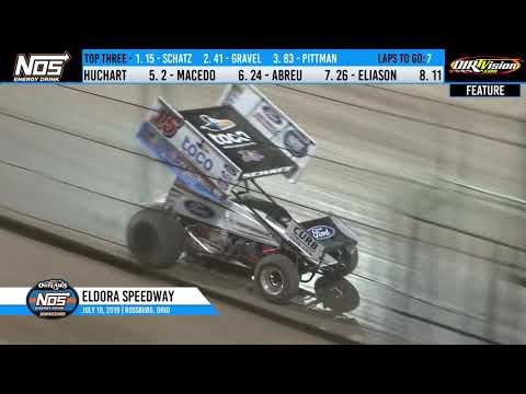 World of Outlaws NOS Energy Drink Sprint Cars Eldora Speedway, July 19th, 2019 | HIGHLIGHTS