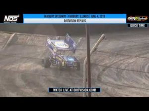World of Outlaws NOS Energy Drink Sprint Cars Fairbury Speedway June 4, 2019   DIRTVISION REPLAYS