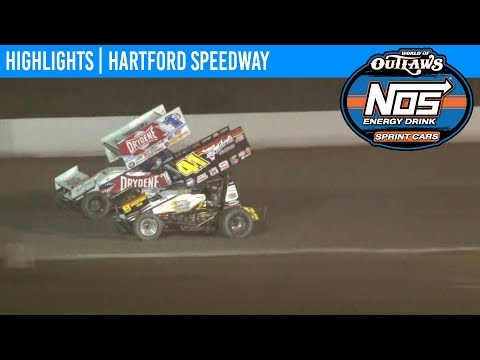 World of Outlaws NOS Energy Drink Sprint Cars Hartford Speedway, July 12th, 2019 | HIGHLIGHTS