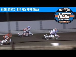 World of Outlaws NOS Energy Drink Sprint Cars Big Sky Speedway, August 24th, 2019   HIGHLIGHTS