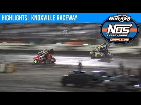 World of Outlaws NOS Energy Drink Sprint Cars Knoxville Raceway, August 7th, 2019 | HIGHLIGHTS