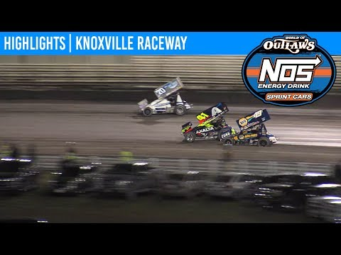 World of Outlaws NOS Energy Drink Sprint Cars Knoxville Raceway, August 8, 2019 | HIGHLIGHTS