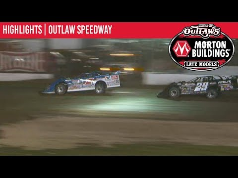 World of Outlaws Morton Buildings Late Models Outlaw Speedway, September 20th, 2019 | HIGHLIGHTS