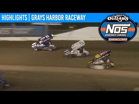 World of Outlaws NOS Energy Drink Sprint Cars Grays Harbor Raceway, September 2nd, 2019 | HIGHLIGHTS