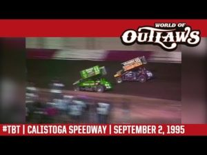 World of Outlaws Craftsman Sprint Cars Calistoga Speedway September 2, 1995 | #ThrowbackThursday