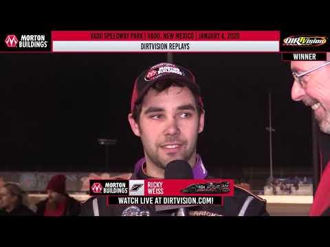 DIRTVISION REPLAYS | Vado Speedway Park January 4th, 2020