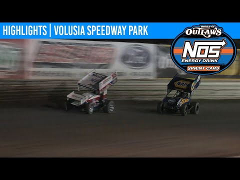 World of Outlaws NOS Energy Drink Sprint Cars Volusia Speedway Park, February 7th, 2020 | HIGHLIGHTS