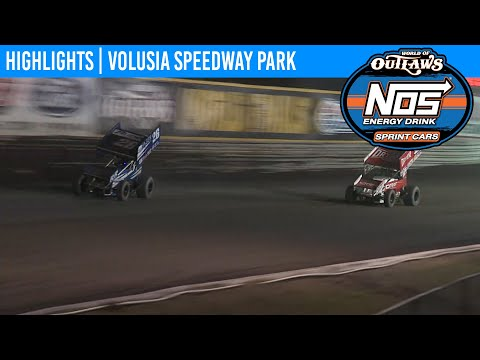 World of Outlaws NOS Energy Drink Sprint Cars Volusia Speedway Park, February 9th, 2020 | HIGHLIGHTS