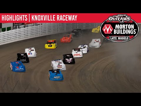 World of Outlaws Morton Buildings Late Models Knoxville Raceway, April 6, 2020 | HIGHLIGHTS