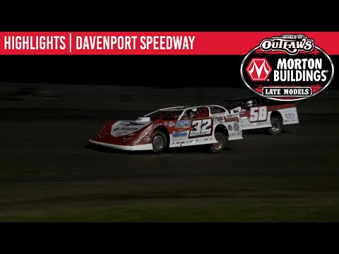 World of Outlaws Morton Buildings Late Models Davenport Speedway, May 29th, 2020 | HIGHLIGHTS