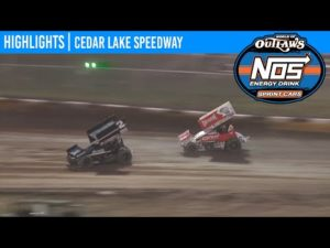 World of Outlaws NOS Energy Drink Sprint Cars Cedar Lake Speedway, July 3, 2020   HIGHLIGHTS