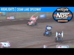 World of Outlaws NOS Energy Drink Sprint Cars Cedar Lake Speedway, July 4, 2020   HIGHLIGHTS