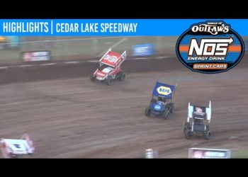 World of Outlaws NOS Energy Drink Sprint Cars Cedar Lake Speedway, July 4, 2020 | HIGHLIGHTS