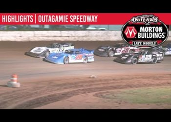 World of Outlaws Morton Buildings Late Models Outagamie Speedway, July 10, 2020 | HIGHLIGHTS