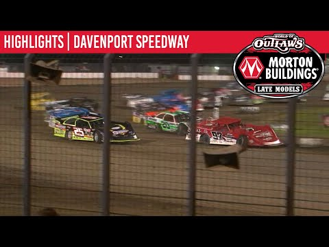 World of Outlaws Morton Buildings Late Models Davenoport Speedway, July 28, 2020 | HIGHLIGHTS