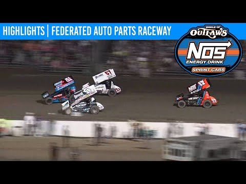 World of Outlaws NOS Energy Drink Sprint Cars Federated Auto Parts Raceway Aug 8, 2020 | HIGHLIGHTS