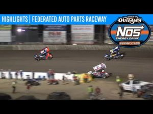 World of Outlaws NOS Energy Drink Sprint Cars Federated Auto Parts Raceway Aug. 7, 2020   HIGHLIGHTS