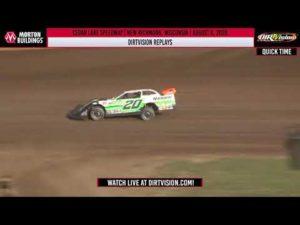 DIRTVISION REPLAYS   Cedar Lake Speedway August 6th, 2020