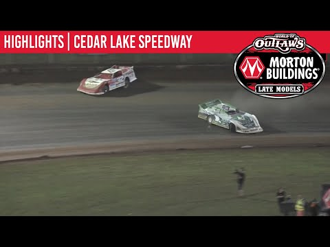World of Outlaws Morton Buildings Late Models Cedar Lake Speedway August 8th, 2020 | HIGHLIGHTS
