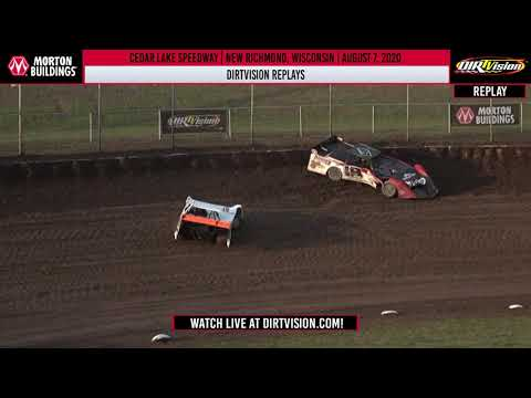DIRTVISION REPLAYS | Cedar Lake Speedway August 7th, 2020