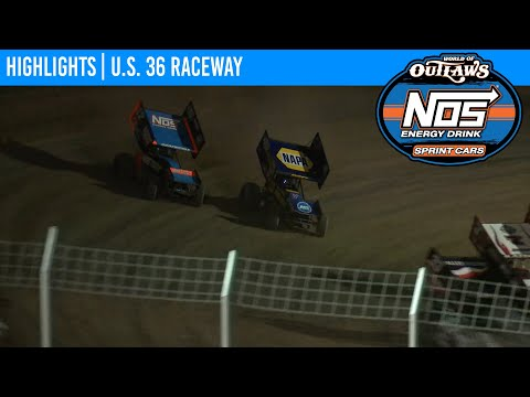 World of Outlaws NOS Energy Drink Sprint Cars U.S. 36 Raceway August 29, 2020 | HIGHLIGHTS