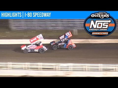 World of Outlaws NOS Energy Drink Sprint Cars I-80 Speedway August 30, 2020 | HIGHLIGHTS