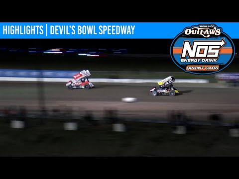 World of Outlaws NOS Energy Drink Sprint Cars Devil's Bowl Speedway September 19, 2020 | HIGHLIGHTS