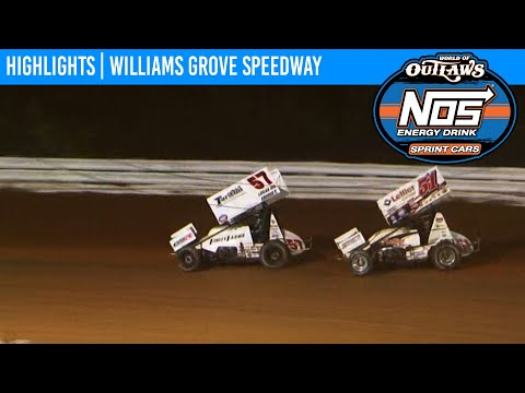 World of Outlaws NOS Energy Drink Sprint Cars Williams Grove Speedway October 2, 2020 | HIGHLIGHTS