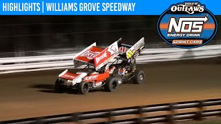 World of Outlaws NOS Energy Drink Sprint Cars Williams Grove Speedway October 3, 2020 | HIGHLIGHTS