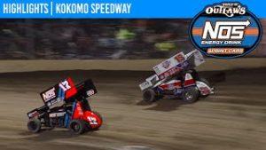 World of Outlaws NOS Energy Drink Sprint Cars Kokomo Speedway October 24, 2020 | HIGHLIGHTS