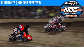 World of Outlaws NOS Energy Drink Sprint Cars Kokomo Speedway October 24, 2020 | HIGHLIGHTS