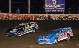 Brandon Sheppard races with Brian Shirley