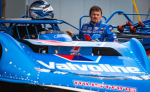 Brandon Sheppard waits to race