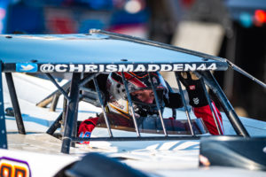Madden gets ready to race at Eldora