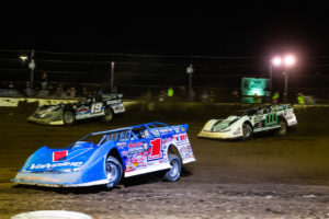 Sheppard races with Gustin and Max Blair